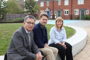 Councillors Derique Montaut, Chris Watts, and Fay Howard
