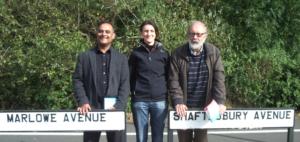 Councillors Abdul Amin, Steve Allsopp and Emma Bushell