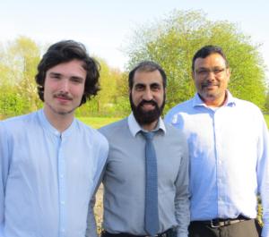 Adam Hunt, Amir Ayub and Bazil Solomon