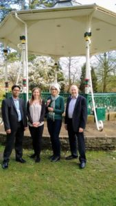 Saleh Ahmed, Nadine Watts, Jane Milner-Barry and Neil Hopkins at the Old Town Gardens Band Stand