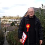 Councillor Jim Grant at Okus Road