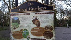 Town Gardens notice board