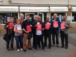 South Swindon Labour campaigners at Park Library