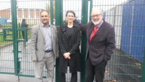 Walcot & Park North Councillors Abdul Amin, Steve Allsopp and Emma Bushell