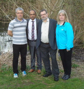 Ian Howard, Junab Ali, Graham Philpot and Steph Exell