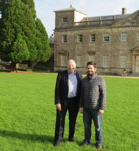 Neil Hopkins and Councillor Matthew Courtliff at Lydiard House