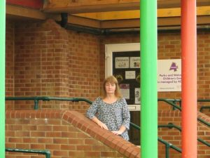 Fay Howard at former Parks and Walcot Children's Centre