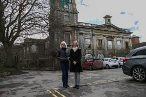 Councillors Jane Milner-Barry and Nadine Watts at the Swindon Corn Exchange